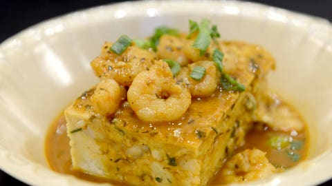 New Orleans -- BBQ Shrimp Bread Pudding