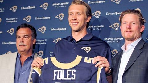 St. Louis quarterback Nick Foles ($1.542 million)