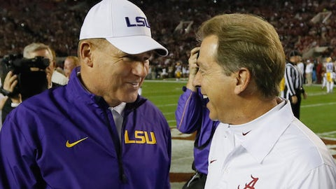 5. LSU at Alabama -- Nov. 7