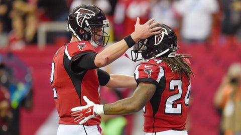 Atlanta's offense absolutely explodes, but Julio Jones has a quiet day