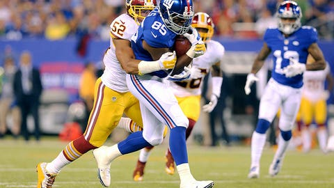 10. New York Giants tight end Daniel Fells
