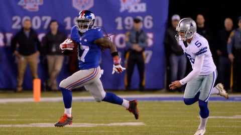 The Giants' two different return touchdowns