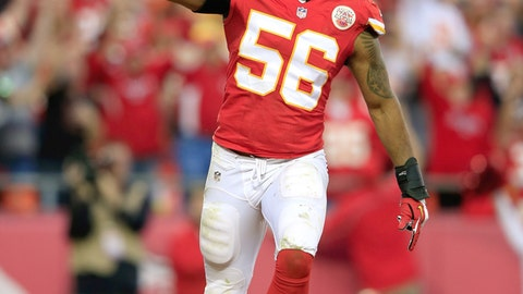 5. Kansas City linebacker Derrick Johnson