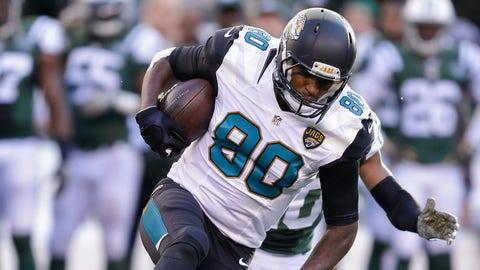 Julius Thomas, TE, Jaguars (back): Out