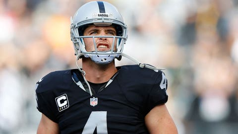 Derek Carr's performance almost brought him to tears