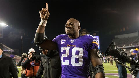 Offensive player of the year: Minnesota running back Adrian Peterson