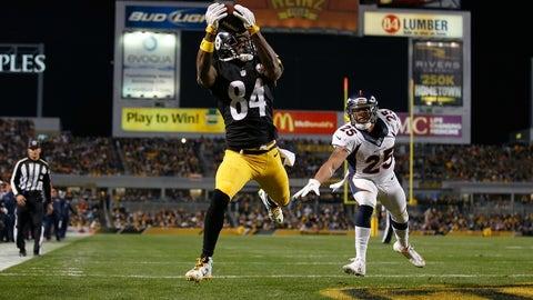Wide receiver: Antonio Brown, Pittsburgh Steelers
