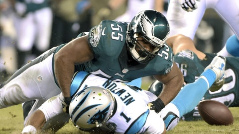 October 12: Philadelphia Eagles at Carolina Panthers, 8:25 p.m. ET