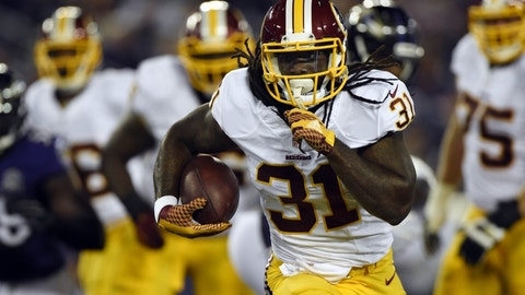 Matt Jones, RB, Redskins (knee): Out