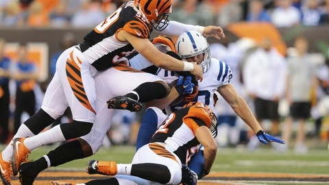 October 29: Indianapolis Colts at Cincinnati Bengals, 1 p.m. ET