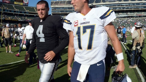 Raiders at Chargers: 4:25 p.m., Dec. 18 (CBS)