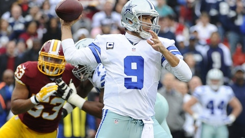Dallas Cowboys: Tony Romo, QB, age 36