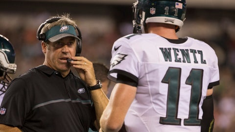 Doug Pederson defends his QB's first interception