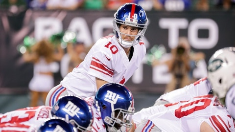 Eli Manning passing yards -- under 272.5