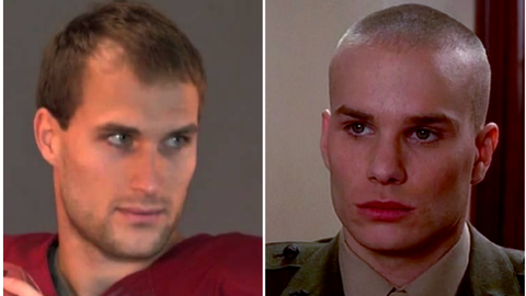 Kirk Cousins (Redskins) and Downey from 'A Few Good Men'