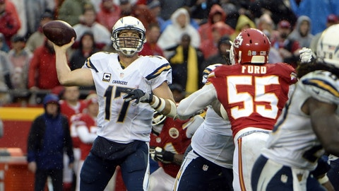 Chiefs at Chargers: 4:25 p.m., Jan. 1 (CBS)