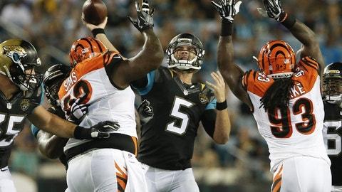 November 5: Cincinnati Bengals at Jacksonville Jaguars, 1 p.m. ET