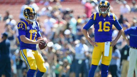 Rams coach Jeff Fisher, on rookie QB Jared Goff's depth chart status