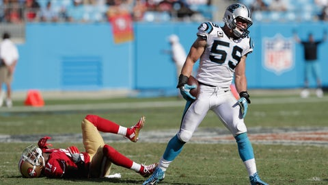 Panthers coach Ron Rivera, on Luke Kuechly's health status
