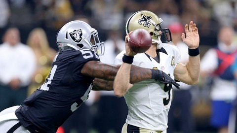 Drew Brees wasn't surprised by Oakland's decision to go for two