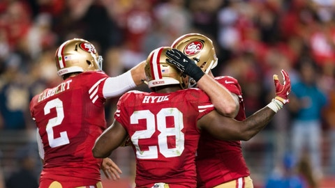 49ers (+14) vs. PANTHERS (Over/under: 45.5)