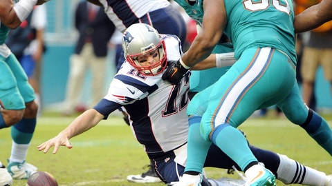 Patriots at Dolphins: 1 p.m., Jan. 1 (CBS)