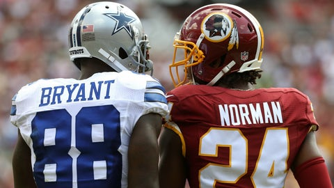 Josh Norman doesn't want to talk about who he's asked to cover