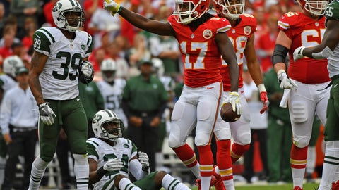 December 3: Kansas City Chiefs at New York Jets, 1 p.m. ET