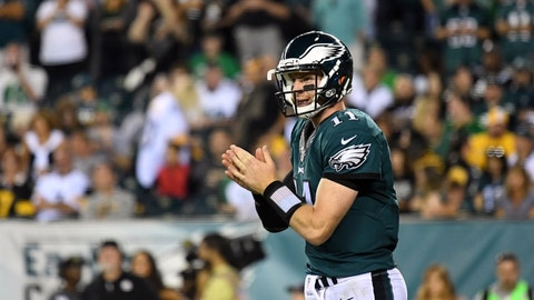 Eagles (-2.5) over REDSKINS (Over/under: 45)
