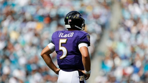 Joe Flacco is embarrassed