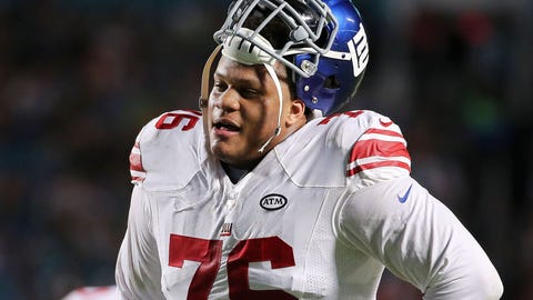 The Giants are content with starting Ereck Flowers at left tackle again