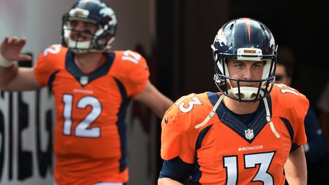 The Broncos will go forward with their current QBs