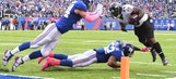 TEAM GRADES: Beckham's heroics lead Giants over Ravens 27-23