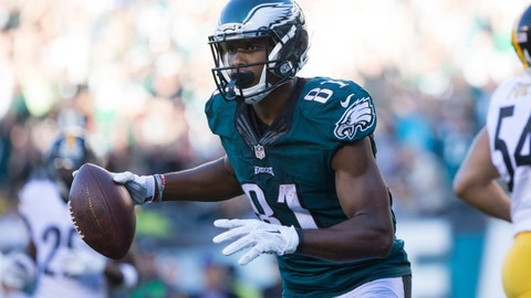 Jordan Matthews, WR, Eagles (back): Questionable