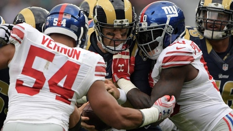 New York Giants at Cleveland Browns, 1 p.m. FOX (710)