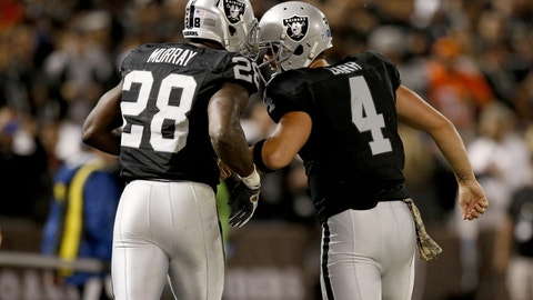 Latavius Murray, RB, Raiders (ankle): Questionable