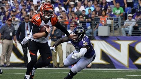 December 31: Cincinnati Bengals at Baltimore Ravens, 1 p.m. ET