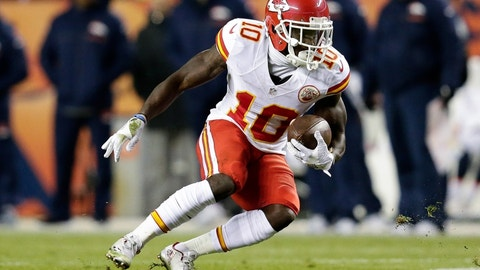 Tyreek Hill, WR, Chiefs (10th last week)