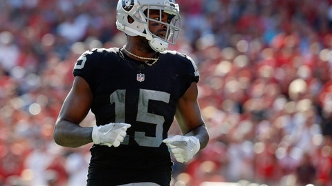 Michael Crabtree, WR, Raiders (finger): Questionable