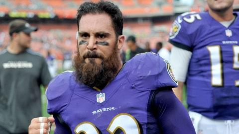 Eric Weddle, S, Ravens: NEW ENGLAND