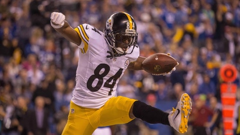 Wide receiver: Antonio Brown, Steelers ($17,000,000)