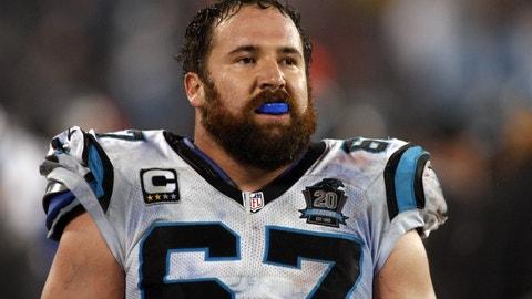 C Ryan Kalil, Panthers: 10 years