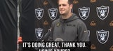 Derek Carr was hilariously polite when asked about his pinkie