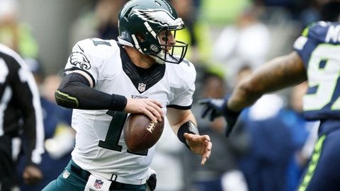 Carson Wentz, QB, Eagles (7th last week)