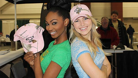 Bishara and Chyna pick up some new outdoorsy hats with a feminine flair.