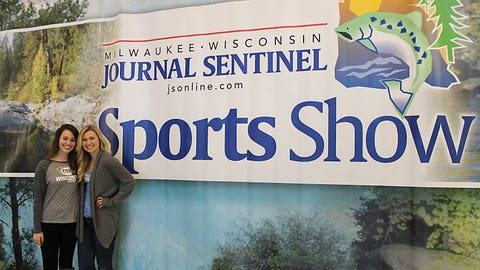 Outdoors enthusiasts like Sage and Chyna will love the Milwaukee Journal Sentinel Sports Show.
