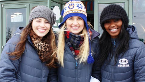 The FOX Sports Wisconsin Girls bundled up for the 6 degrees weather the morning of the Arctic Tailgate. We can't wait for sunshine and Brewers tailgates!