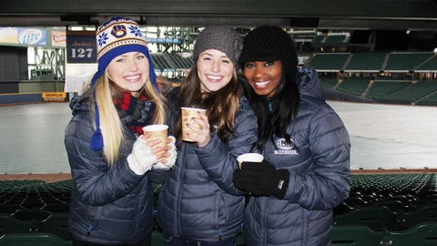 Miller Park isn't quite the same in the winter... The FOX Sports Wisconsin Girls can't wait for the tarp to be gone, the roof to be open and the stands to be full of Brewers fans.