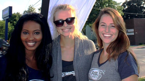 The FOX Sports Wisconsin Girls enjoyed a beautiful day in downtown Manitowoc.