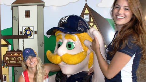 A visit to Miller Park isn't complete without a Bernie sighting (even if he's made out of plastic).